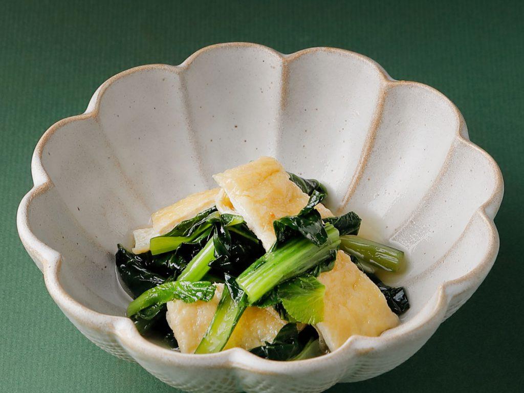 豆腐と小松菜の炊いたん